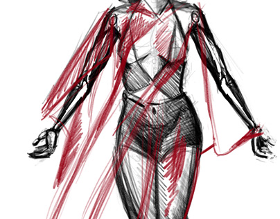 Study of standing woman