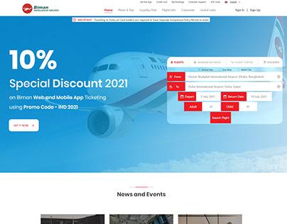 Biman Bangladesh Airline Website Redesign