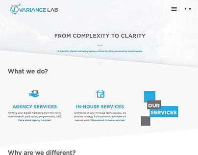 VarianceLab webste rebranding