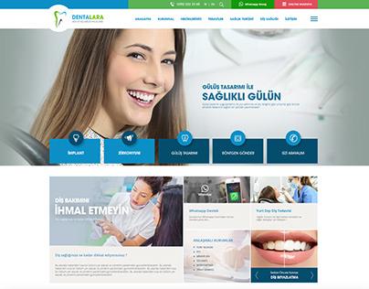Dentalara Ağız ve Diş Sağlığı Merkezi web Sitesi
