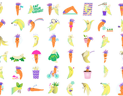 Veggie Friends sticker set