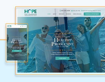 Hope For Surgeons (Web Design)