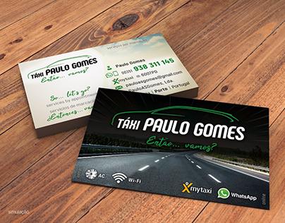 """""""Táxi Paulo Gomes"""" Branding (2018~2019)"""