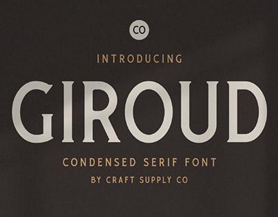 FREE   Giroud Condensed Serif