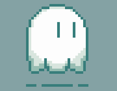 Pixel ghost. Animation