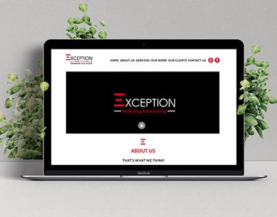"Website Intro ""Exception Advertising"""
