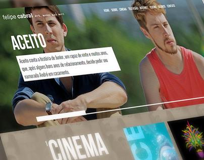 Webdesign e desenvolvimento - Site Felipe Cabral