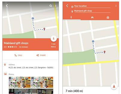Store Locator Mobile App UX/UI