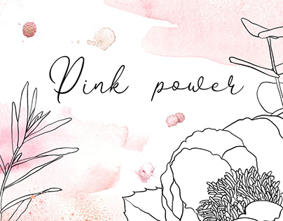 Pink washes, splashes and flowers for Creative Market