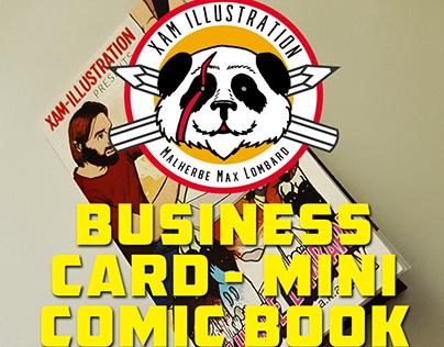 \\\ BUSINESS CARD- MINI COMIC BOOK///