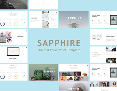 Sapphire Minimal PowerPoint