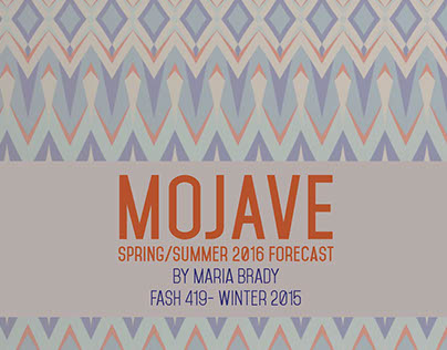 MOJAVE Trend & Forecasting Book S/S 2016