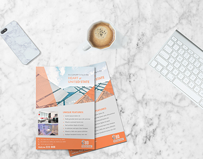 Free Architecture Flyer Design PSD Template