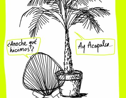 Acapulco y Palmera