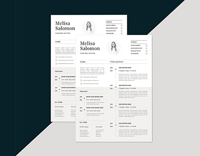Free Classic and Formal Resume Template