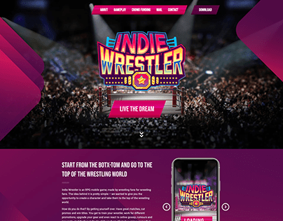 Indie Wrestler - Web Development