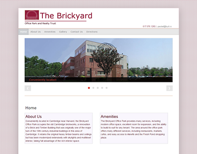 Brickyard Office Park - Full website redesign