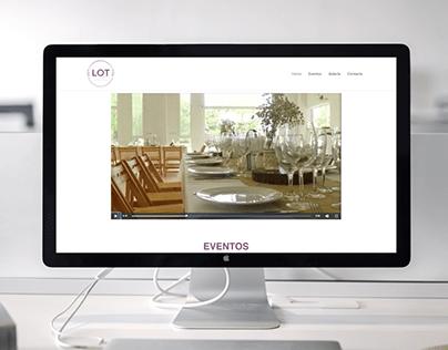 Diseño web - Lot Eventos Bahía Blanca