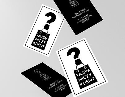 """Logo design for """"Tajemniczy Klient"""""""