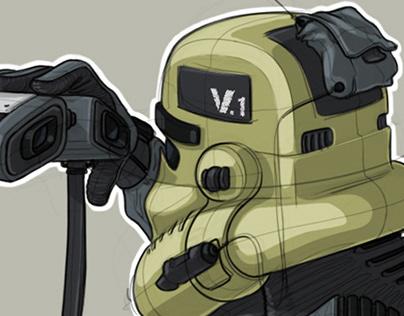 Star Wars inspired Shock Troopers.
