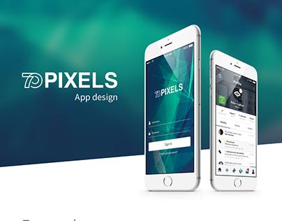 70 Pixels app design