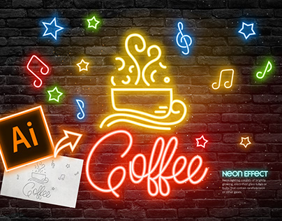 Create a Neon Text Effect in Adobe Illustrator