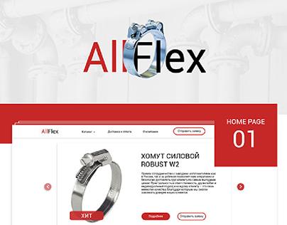 Website design for AllFlex