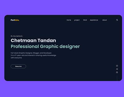 Modern Portfolio Landing Page UI Design
