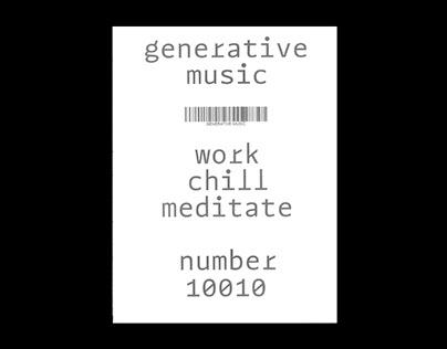 GENERATIVE MUSIC (MAGAZINE)