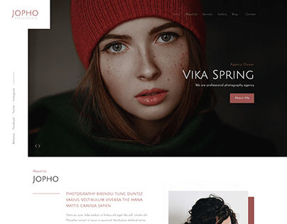 JOPHO – Creative Photography Portfolio (Light)