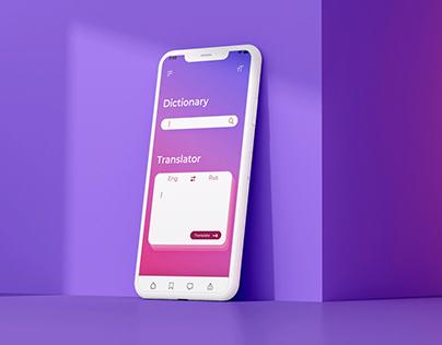 Dictionary mobile app