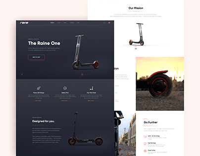 Electric Scooter Landing Page