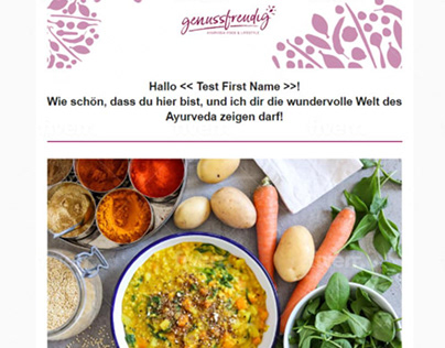 This email template will be good for Recipes blog!