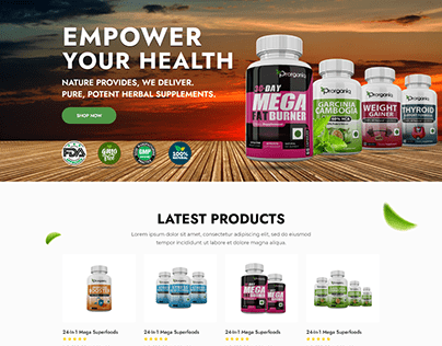 Shopify store - Empower your Health -