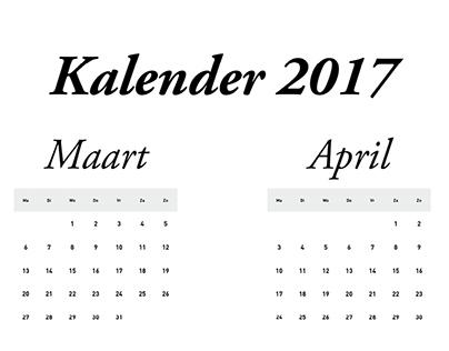 Kalender 2017 Boretti
