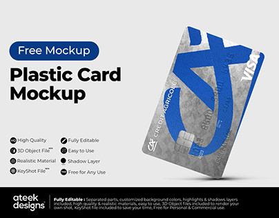 Plastic Card - Free Mockup