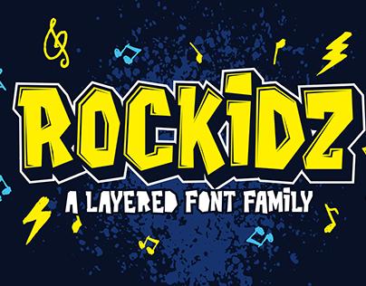 Rockidz - Layered Font