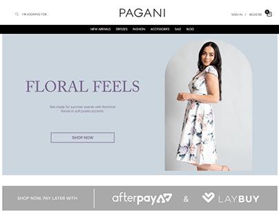 Pagani Website Design