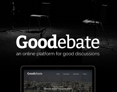 Goodebate - An online platform for discussions