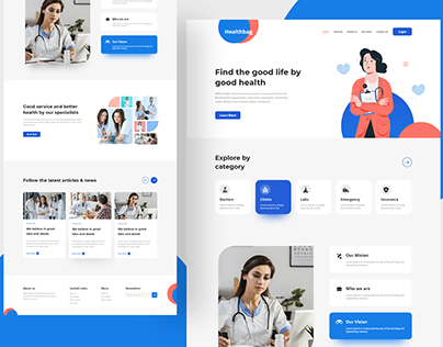 Doctor Consultation Website Design