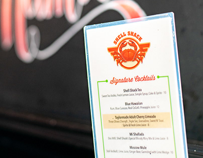 Seafood Restaurant Menu Design