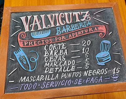 Valvicutz - Lettering para pizarras / Chalk Lettering