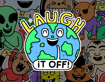 """Animated Sticker pack for Whatsapp """"Laugh it Off"""""""