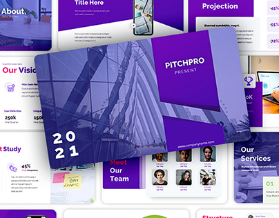 Pitchdeck Presentation for Digital Startup and Agency.
