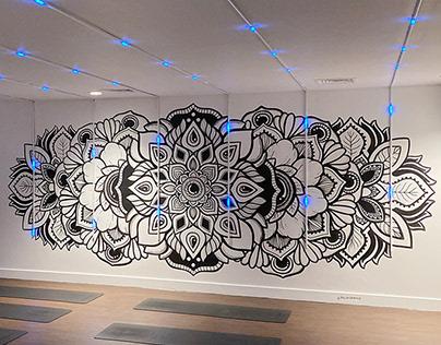 Illuminated Mandala Mural