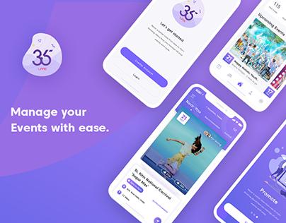 365Live - Event App UX/UI Design