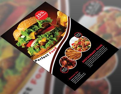 Restaurant Discount Flyer