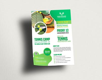 Tennis Flyer Design