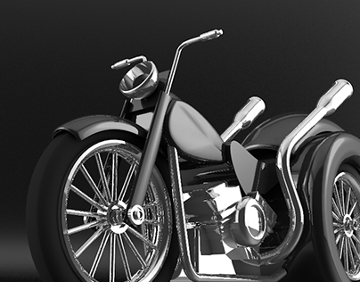 MODELING 3D - MOTORCYCLE - C4D