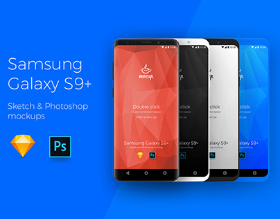 Samsung Galaxy S9+ App Mockups